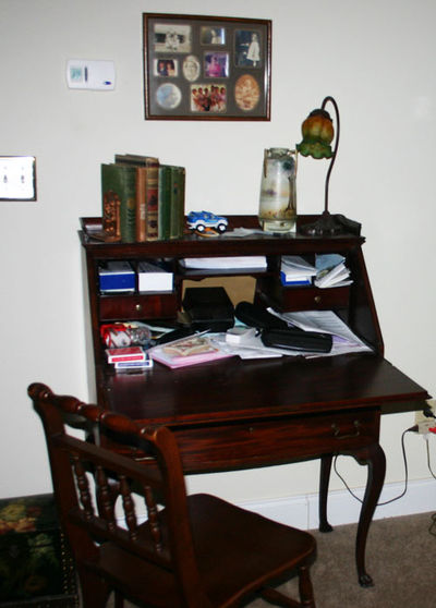 Antique desk before