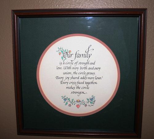 Family circle words print