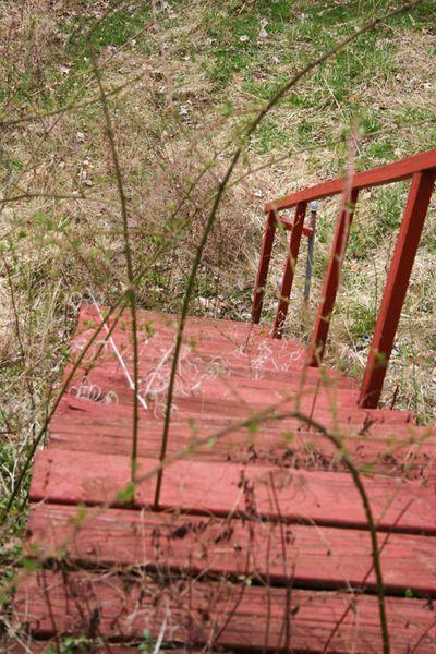 Cabin stairs to bridge