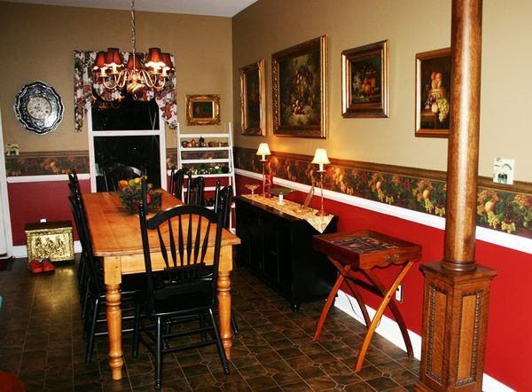 A country kitchen with tray