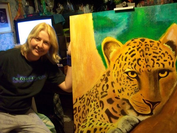 Mary with tiger