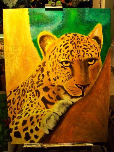 Mary's tiger painting