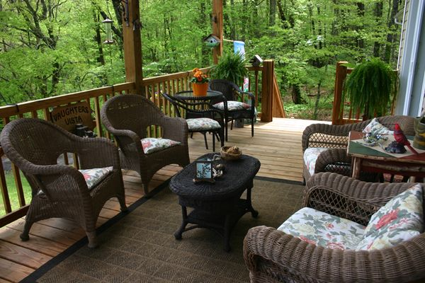 Outdoor Weds full porch