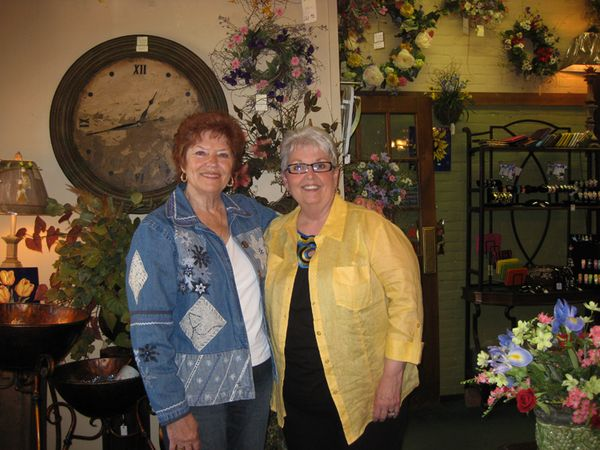 Jeanne and Pat flower store