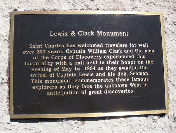 Memorial Day sign Lewis and Clark