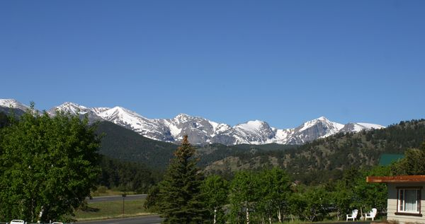 Rocky mtn motel room view