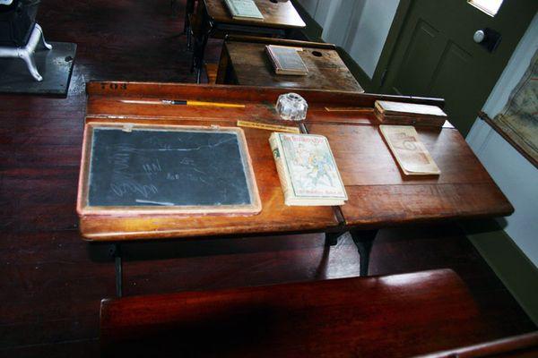 School house double desk