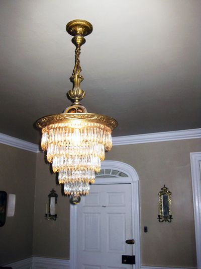 Blue mon.Dining room chandelier