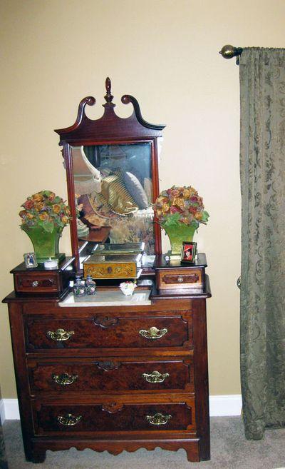 Vintage dresser with new dresser pulls