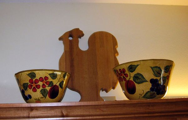 Rooster wooden