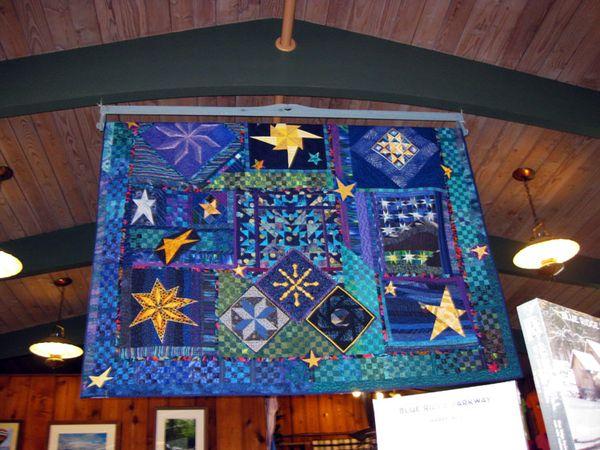 Blue ridge blue quilt