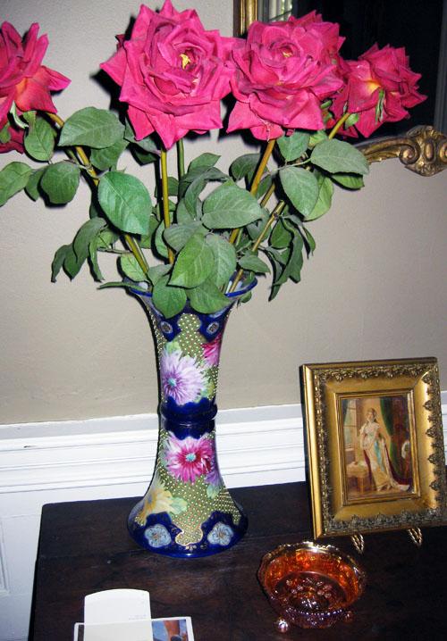 Livingroom nippon cobalt blue vase