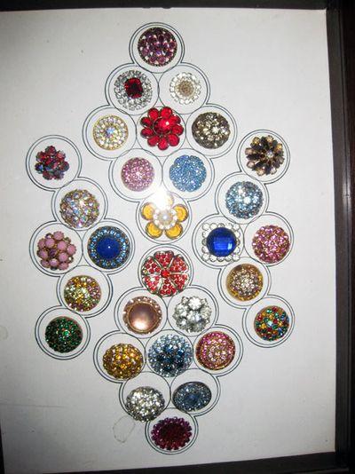 Antique colorful buttons
