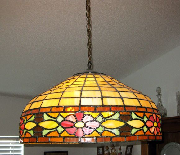 Vintage tiffany style chandelier