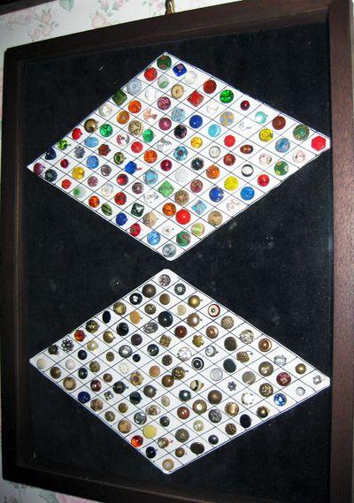 Antique buttons diamonds
