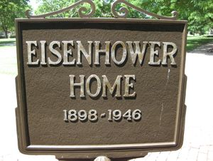 Outside Eisenhower Home
