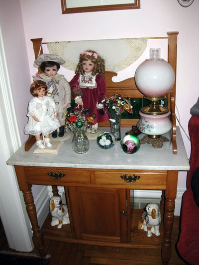 Aunt Shirley's dolls on table
