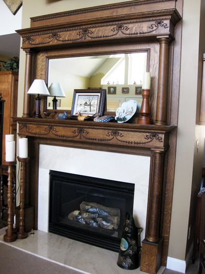 Tole painting fireplace