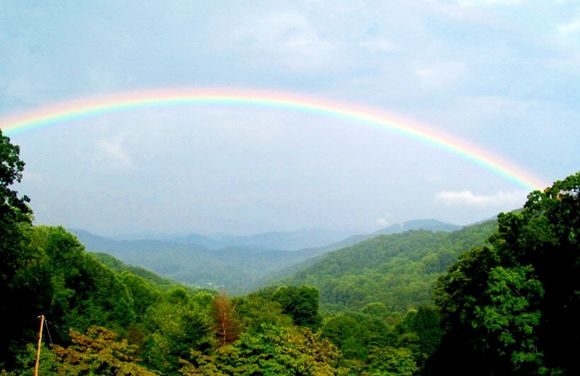 View summer rainbow