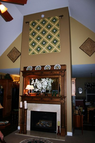 Great room fireplace wall