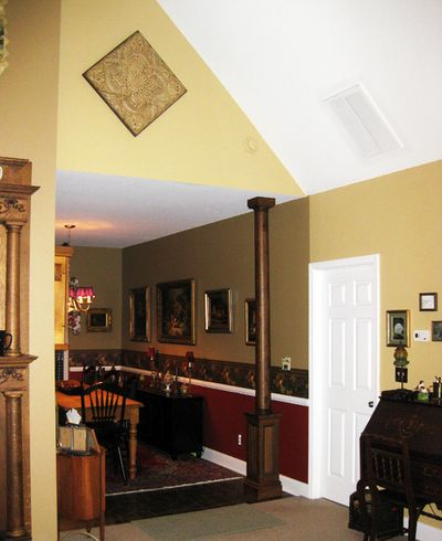 Great room paint contrast