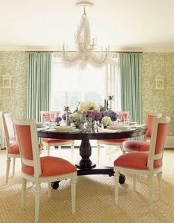Pink+chair+dining+room