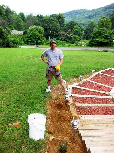 Virginia's digging holes