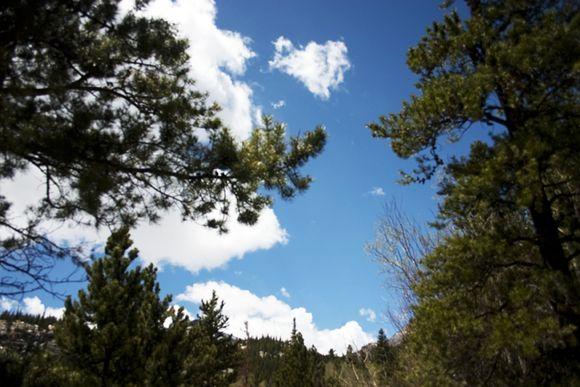 Blue sky mountain 2
