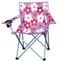 Pink-folding-camping-chair