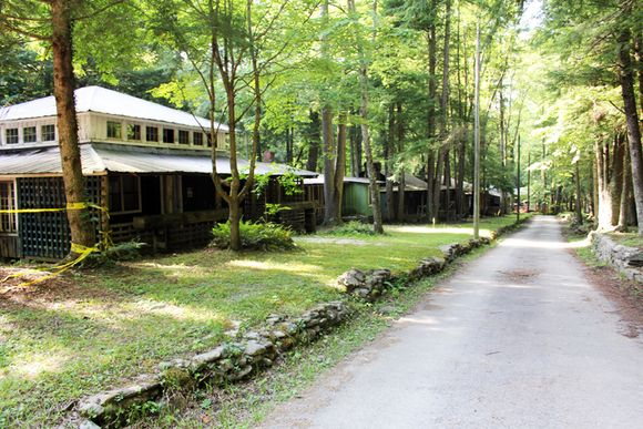 Elkmont main road of cabins