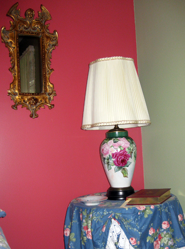 Bedroom makeover lamp closeup