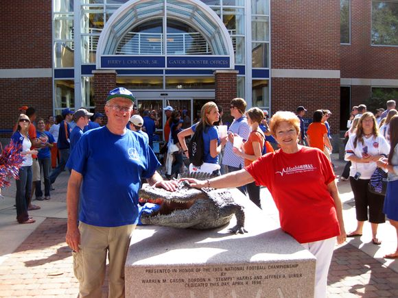 Jeanne bBll at Gator game