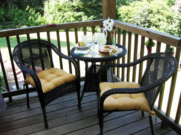 Porch table setting