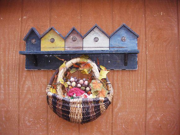 Camera club basket bird houses