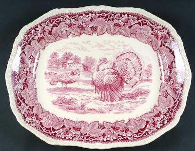 Masons+Vista+Pink+Turkey+Platter