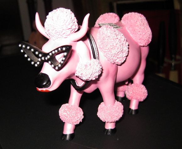 Pink poodle cow