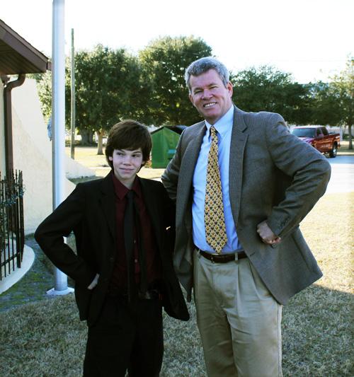 Outside Logan and Robert