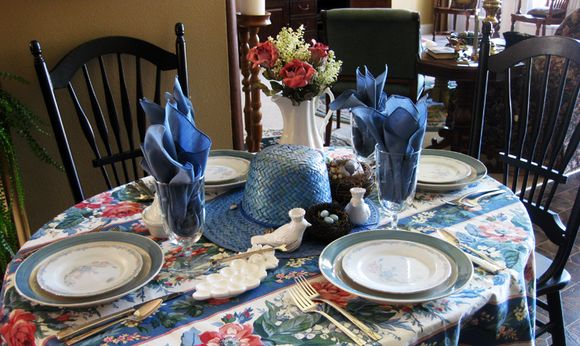Blue monday table place setting 2