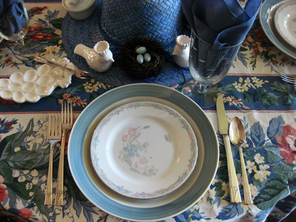 Blue monday placesetting birds