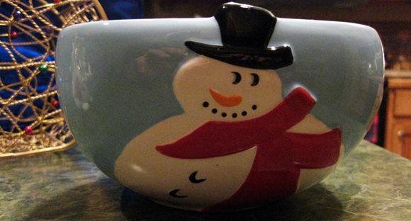 Bowl snowman