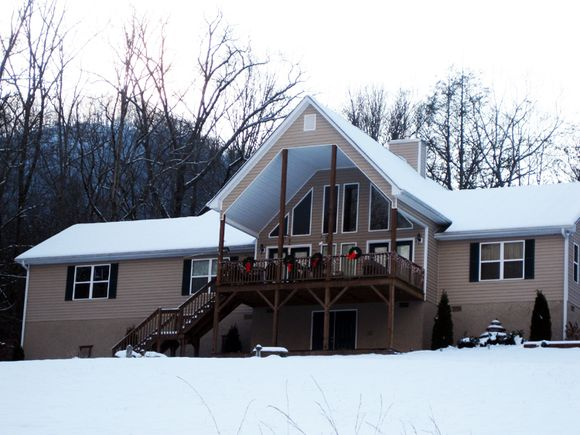 Our home and snow