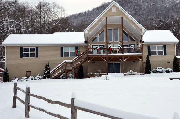 Snow C close up house