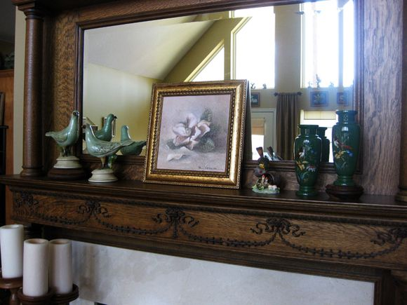 Five dollar painting mantel