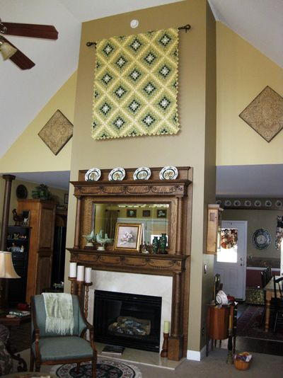 Five dollar painting full fireplace
