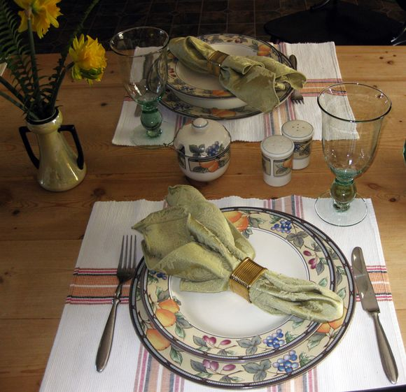 Tablescape placesetting