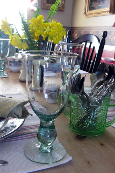 Tablescape goblets
