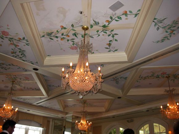 Wedding chandy room ceiling