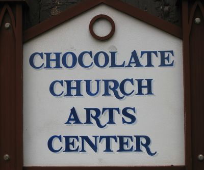 Chocolate church sign