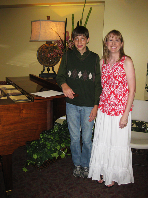Piano recital caleb with teacher
