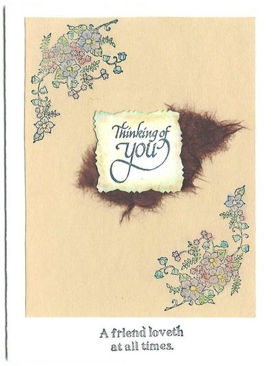 Card - Tan Flowers Sympathy Thinking of You Friend Loveth-1